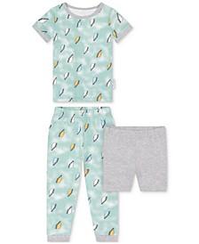 Baby Boys 2-Piece Lightening-Print Pajama Set with Shorts
