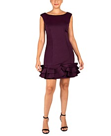 Ruffled-Hem Bodycon Dress