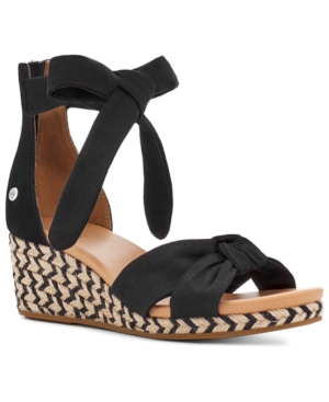 Ugg Wedges WOMEN'S YARROW ESPADRILLE WEDGE SANDALS