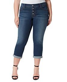 Trendy Plus Size Arrow Straight-Leg Ankle Jeans