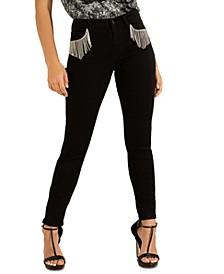 Embellished Fringe Skinny Jeans