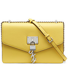 DKNY Elissa Large Leather Shoulder Flap