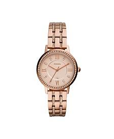 Women's Gwen Rose Gold-Tone Glitz Bracelet Watch 34mm