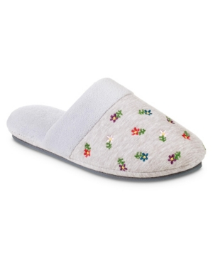 Women's Embroidered Jersey Eco Comfort Slipper with Memory Foam