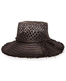 Open Weave Straw Bucket Hat