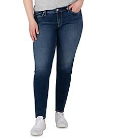 Trendy Plus Size Elyse Mid-Rise Skinny Jeans, Regular & Long Lengths