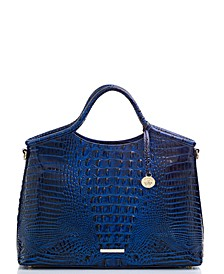 Elaine Melbourne Embossed Leather Satchel