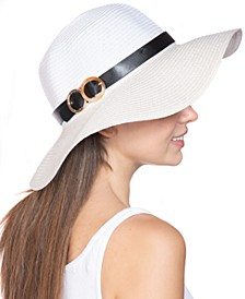 INC Double-Buckle Floppy Hat, Created for Macy's