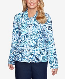 Plus Size Classics S1 Ikat French Terry Jacket