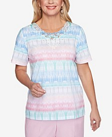 Plus Size Classics S1 Texture Biadere Top