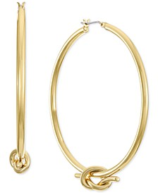 """Gold-Tone Knotted Large Hoop Earrings, 2.5"""", Created for Macy's"""