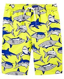 Little Boys Shark Swim Trunks