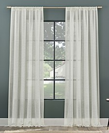 Subtle Foliage Recycled Fiber Sheer Curtain Panel Collection