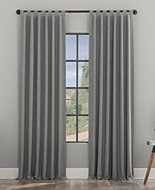 Heathered Texture Recycled Fiber Semi-Sheer Tab Top Curtain Panel Collection