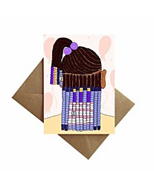 Braids and Beads Birthday Card