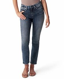 Avery High-Rise Straight-Leg Jeans