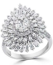 EFFY® Diamond Teardrop Cluster Statement Ring (1-1/2 ct. t.w.) in 14k White Gold