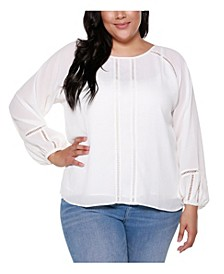 Black Label Plus Size Round Neck Top