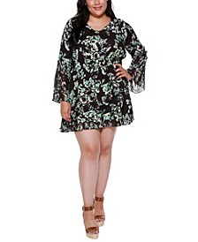 Black Label Plus Size Floral Dress