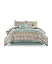 Willa California King Cotton Printed Comforter, Set of 7