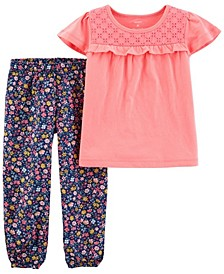 Baby Girls Jersey Tee and Pant Set, 2 Pieces