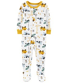 Baby Boy Construction Footie Pajamas