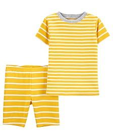 Baby Boys and Girls Striped Pajama Set, 2 Pieces