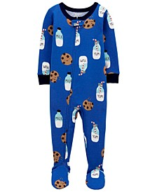 Baby Boys Milk and Cookies Footie Pajamas