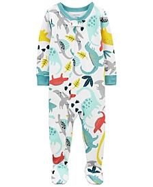 Baby Boys Dinosaur Footie Pajamas
