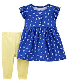 Baby Girl Floral Dress and Legging Set, 2 Pieces