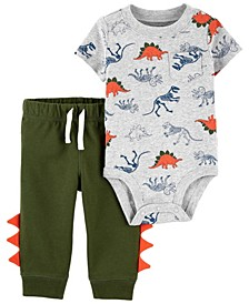 Baby Boys Dinosaur Bodysuit and Pant Set, 2 Pieces