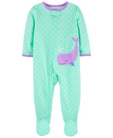 Baby Girls Whale Loose Fit Footie Pajamas