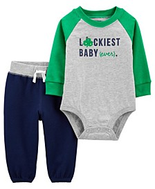 Baby Boy St. Patrick's Day Bodysuit Pant Set