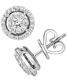 Vanilla Diamond® Halo Stud Earrings (3/8 ct. t.w.) in Platinum