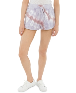 Juniors' Tie-Dyed Pull-On Sweat Shorts