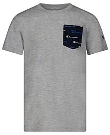 Big Boys Script All Over Print Pocket T-shirt