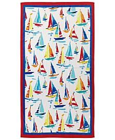 Painterly Ships Velour Beach Towel, Created for Macy's