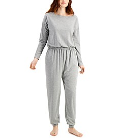 Knit One Piece Pajama Jumpsuit, Created for Macy's