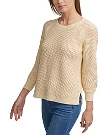 Open-Weave Cotton Sweater