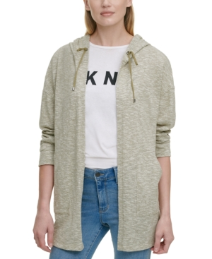 Dkny OPEN-FRONT HOODED JACKET