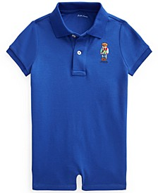 Ralph Lauren Baby Boys Polo Bear Cotton Interlock Sunsuit
