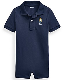 Ralph Lauren Baby Boys Polo Bear Cotton Sunsuit