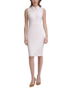 Calvin Klein PETITE COLLARED SHEATH DRESS