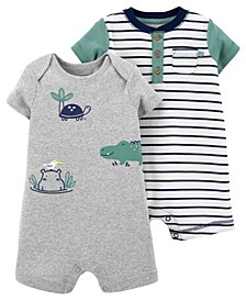 Baby Boys Rompers, Pack of 2