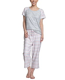 Dream Knit Capri 2pc Pajama  Set
