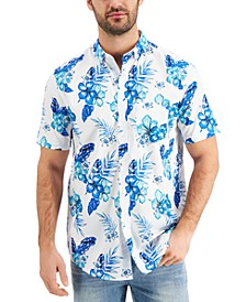 Men's Tropical Floral Short Sleeve Shirt, Created for Macy's