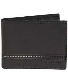 Men's Contrast Stitch Bifold Leather Wallet