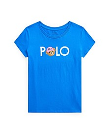 Big Girls Polo Bear Logo Jersey Tee