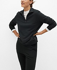 Women's Zipper Cotton Sweatshirt