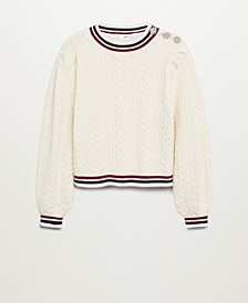 Women's Contrast-Edge Sweater